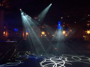 Vitt discoljus på nattklubben Harrys i Helsingborg
