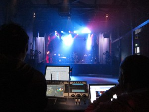 Repetitioner inför Loreens Julshow på Moriska Paviljongen 2014