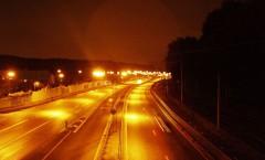 Motovägsbelysning med lågtrycksnatrium